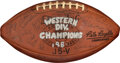"""Football Collectibles:Balls, 1969 Oakland Raiders """"Western Division Champions"""" Team Signed Football with George Anderson Provenance...."""
