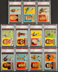 Football Cards:Lots, 1957 Topps Football PSA Graded Lot of 11. ...