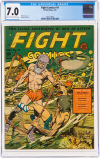 Fight Comics #11 (Fiction House, 1941) CGC FN/VF 7.0 Light tan to off-white pages