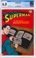 Golden Age (1938-1955):Superhero, Superman #49 (DC, 1947) CGC FN 6.0 Off-white to white pages....