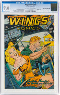 Golden Age (1938-1955):Adventure, Wings Comics #82 Mile High Pedigree (Fiction House, 1947) CGC NM+ 9.6 Off-white to white pages....