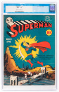 Golden Age (1938-1955):Superhero, Superman #15 (DC, 1942) CGC FN/VF 7.0 Off-white to white pages....