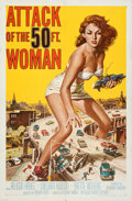 "Movie Posters:Science Fiction, Attack of the 50 Foot Woman (Allied Artists, 1958). Folded, Very Fine-. One Sheet (27"" X 41"") Reynold Brown Artwork.. ..."