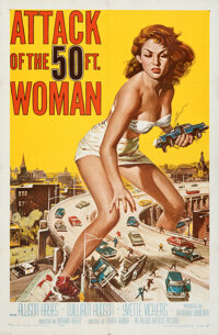 """Attack of the 50 Foot Woman (Allied Artists, 1958). Folded, Very Fine-. One Sheet (27"""" X 41"""") Reynold Brown Ar..."""