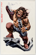 Original Comic Art:Covers, Steve Rude HeroClix: Collateral Damage Booster Box Cover Painting Kalibak Original Art (WizKids/DC, 2006)....