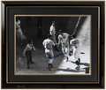 Autographs:Photos, Ted Williams Signed 1941 All-Star Game Oversized Framed Photograph. ...