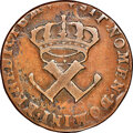 French Colonies, French Colonies: Louis XV 9 Deniers 1722-H F15 Brown NGC,...