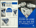 Movie Posters:Comedy, Design for Living (Paramount, 1933). Fine. Pressbo...