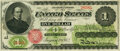 Large Size:Legal Tender Notes, Fr. 16b $1 1862 Legal Tender PMG Extremely Fine 40.. ...
