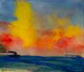 Works on Paper, Emil Nolde (1867-1956). Seascape, 1946. Watercolor on paper. 8-7/8 x 10-3/8 inches (22.5 x 26.4 cm). Signed lower left: ...