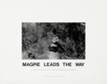 Photographs, Hamish Fulton (b. 1946). Magpie Leads the Way, 1989. Photograph on paper, with letterpress. 43-1/2 x 55-1/2 inches (110....