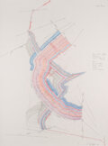 Works on Paper, Jorinde Voigt (b. 1977). Nexus-Studie IV, 2011. Pencil, colored pencil, and ink on paper. 24 x 18-1/8 inches (61 x 46 cm...