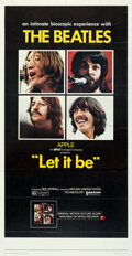 Movie Posters:Rock and Roll, Let It Be (United Artists, 1970). Folded, Very Fine+.