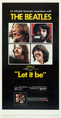"""Let It Be (United Artists, 1970). Folded, Very Fine+. Three Sheet (41"""" X 79"""")"""