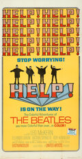 """Movie Posters:Rock and Roll, Help! (United Artists, 1965). Folded, Very Fine. Three Sheet (41"""" X 79"""").. ..."""