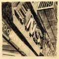 Works on Paper, Robert Cottingham (b. 1935). Discount Store, 1970. Pencil on paper. 10-3/8 x 10-1/2 inches (26.4 x 26.7 cm). Signed and ...