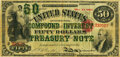 Fr. 192b $50 Act of June 30, 1864 Three-Year 5% Compound Interest Treasury Note. Hessler X140C. PMG Very Fine 30