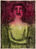 Prints & Multiples, Rufino Tamayo (1899-1991). Monólogo, 1974. Mixografia on Arches paper. 29-3/4 x 21-3/4 inches (75.6 x 55.2 cm) (sheet). ...