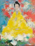 Paintings, Vu Cao Dam (1908-2000). Divinité, 1967. Oil on canvas. 13-1/2 x 10-1/2 inches (34.3 x 26.7 cm). Signed and dated lower r...