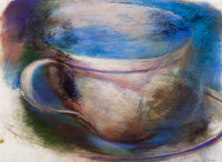 Christopher Brown (b. 1951) Teacup, 1982 Pastel on paper 21 x 28 inches (53.3 x 71.1 cm) (sheet)<