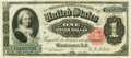 Large Size:Silver Certificates, Fr. 222 $1 1891 Silver Certificate PMG Choice Uncirculated 64.. ...