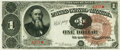 Large Size:Treasury Notes, Fr. 347 $1 1890 Treasury Note PMG Choice Extremely Fine 45.. ...