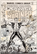 Original Comic Art:Covers, John Romita Sr. Sub-Mariner #67 Cover Original Art (Marvel Comics, 1973)....