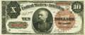Large Size:Treasury Notes, Fr. 366 $10 1890 Treasury Note PMG Choice Very Fine 35.. ...