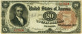 Large Size:Treasury Notes, Fr. 372 $20 1890 Treasury Note PMG Very Fine 30.. ...