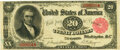 Large Size:Treasury Notes, Fr. 375 $20 1891 Treasury Note PMG Very Fine 30.. ...