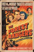 """Movie Posters:Action, The Forest Rangers (Paramount, 1942). Folded, Fine+. One Sheet (27"""" X 41""""). Action.. ..."""