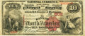 National Bank Notes:Pennsylvania, Philadelphia, PA - $10 1882 Brown Back Fr. 480 The Bank of North America Ch. # 602 PMG Choice Fine 15.. ...