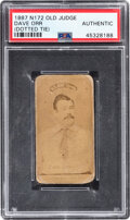 Baseball Cards:Singles (Pre-1930), 1887-90 N172 Old Judge Dave Orr (Dotted Tie) PSA Authentic....