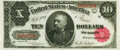 Large Size:Treasury Notes, Fr. 369 $10 1891 Treasury Note PMG Choice About Uncirculated 58.. ...