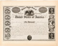 "United States - Act of July 21, 1841 $50,000 ""United States Loan of 1841"" Registered Bond. Hessler X104I. Proo..."