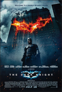 """The Dark Knight (Warner Bros., 2008). Rolled, Very Fine+. One Sheet (27"""" X 40"""") DS Advance. Action"""