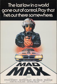 """Mad Max (Warner Bros., 1979). Rolled, Very Fine. British One Sheet (27"""" X 40"""") Tom Beauvais Artwork. Science F..."""