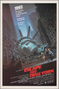 "Movie Posters:Science Fiction, Escape from New York (Avco Embassy, 1981). Rolled, Very Fine+. One Sheet (27"" X 41"") Barry Jackson Artwork. Science Fiction...."