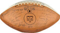 Football Collectibles:Balls, 1969 Texas Longhorns Team Signed Football - Undefeated National Champions!...