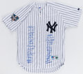 Autographs:Jerseys, 2000 New York Yankees Team Signed Jersey. ...