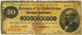 Large Size:Gold Certificates, Fr. 1174 $20 1882 Gold Certificate PMG Very Good 10.. ...