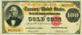 Large Size:Gold Certificates, Fr. 1214 $100 1882 Gold Certificate PMG About Uncirculated 50.. ...