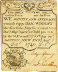 Massachusetts Isaac Winslow Merchant or Order, Boston Silver Bank August 1, 1740 2 Shillings 6 Pence (60gr.) Fr. MA-87.1...