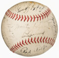 Autographs:Baseballs, 1937 New York Yankees Team Signed Baseball...