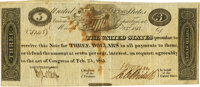 United States - Act of February 24, 1815 $3 Treasury Note. Hessler X83A, Fr. TN-16b. Triple-Signature Fully Issued. PMG...