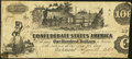Confederate Notes:1862 Issues, Houston, Texas Issued T39 $100 1862 Pf-13 Cr. 294 Plate State III Very Fine.. ...