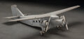 Collectible, Ford Trimotor Tin Goose Airplane Scale Model. 40 x 34-1/2 x 8-3/4 inches (101.6 x 87.6 x 22.2 cm). ...