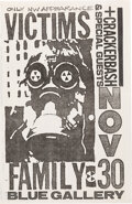 Music Memorabilia:Posters, Victims Family / Crackerbash Blue Gallery Concert Paste-Up Designed by Mike King (circa late 1980s/ early 1990s)....