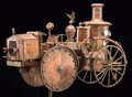 Collectible, Hand-Built Transitional Steam Car Weathervane. 67 x 49 x 15 inches (170.2 x 124.5 x 38.1 cm). ...