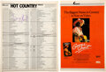 Music Memorabilia:Autographs and Signed Items, George Strait: Two Signed Billboard Items, An Ad For the George Strait Live! Video and the Hot Country...